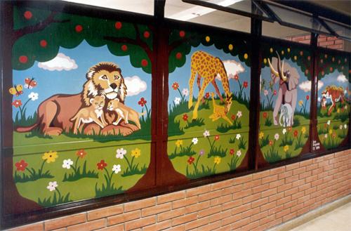 Murales ambientarte for Jardines murales